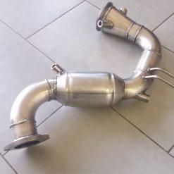 DOWNPIPE INOX 400 CELLE TUBO RIMOZIONE DPF 1.6 EURO6 D-TEMP 500X GIULIETTA RENEGADE TIPO