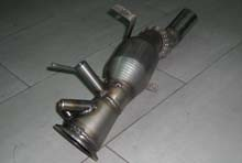 DOWNPIPE DPF INOX MAGG. 70MM BMW SERIE 5 E60 E61 525D 530D 530XD 3.0 TDI CAT 200 CELLE
